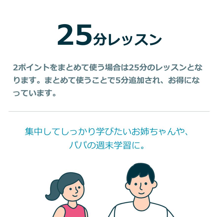 25分レッスン